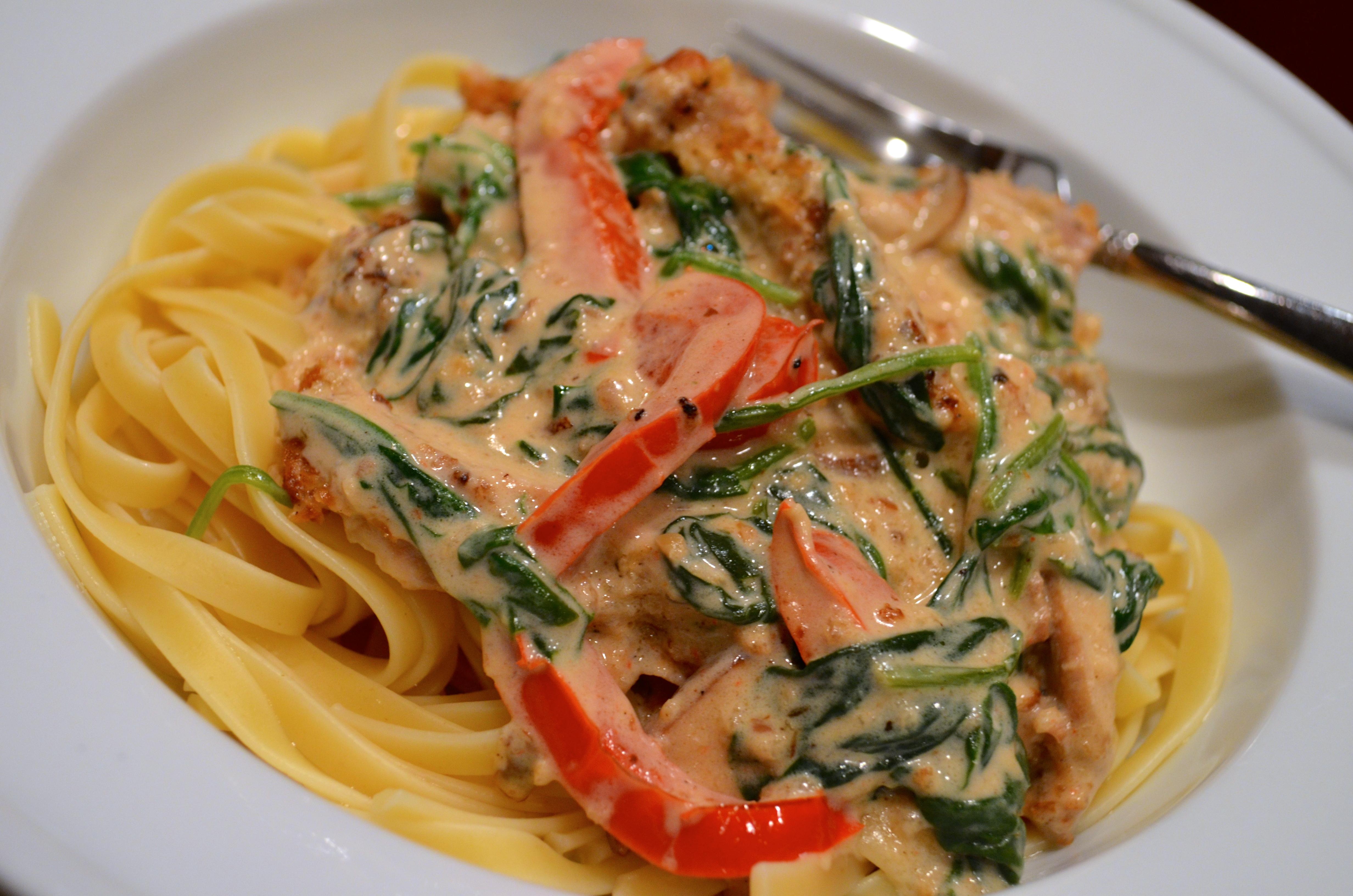Copycat Olive Garden Tuscan Garlic Chicken Fettuccine Go Go Go Gourmet