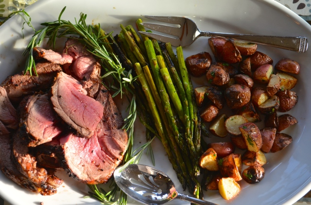 Grilled Lamb with Garlic & Rosemary