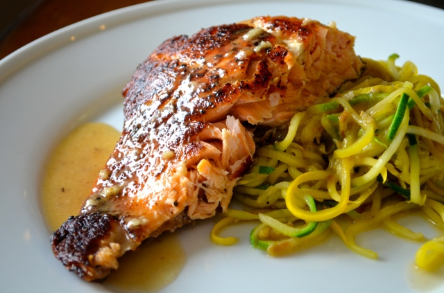 Pan-Seared Salmon with Lemon-White Wine Sauce